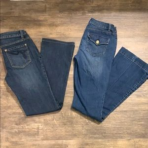 Pair of Cache Bootcut Jeans